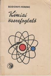 Kémiai összefoglaló - Régikönyvek