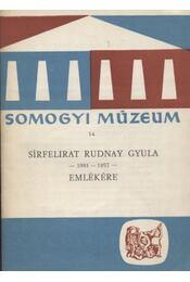 Sírfelirat Rudnay Gyula emlékére - Régikönyvek