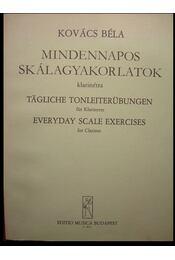 Mindennapos skálagyakorlatok klarinétra - Régikönyvek