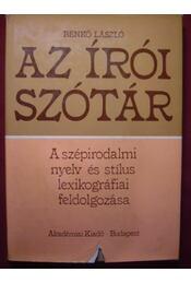 Az írói szótár - Régikönyvek