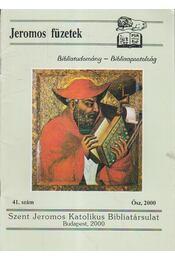 Jeromos Füzetek 41. szám - Tarjányi Béla - Régikönyvek