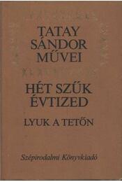 Hét szúk évtized - Lyuk a tetőn - Tatay Sándor - Régikönyvek