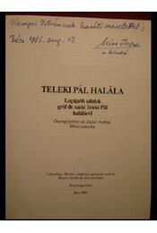 Gróf Teleki Pál halála - Régikönyvek