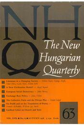 The New Hungarian Quarterly No. 63 - Régikönyvek