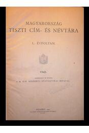 Magyarország tiszti cím- és névtára - Régikönyvek