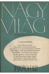 Nagyvilág 1970. évfolyam I-XII. szám (teljes) - Több szerző - Régikönyvek