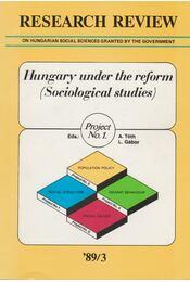 Research Review '89/3. - Tóth András, Gábor László - Régikönyvek