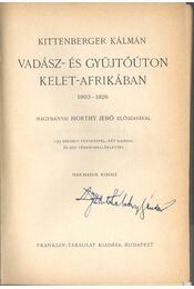 Vadász- és gyűjtőúton Kelet-Afrikában - Régikönyvek