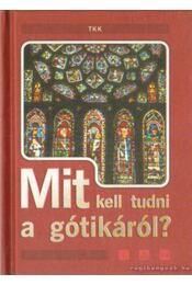 Mit kell tudni a gótikáról? - Vass Borbála - Régikönyvek
