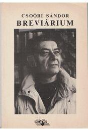 Csoóri Sándor Brevárium - Vasy Géza (szerk.) - Régikönyvek