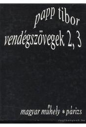 Vendégszövegek 2,3 - Régikönyvek
