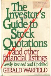 The Investors's Guide to Stock Quotations  and Other Financial Listings - Warfield, Gerald - Régikönyvek
